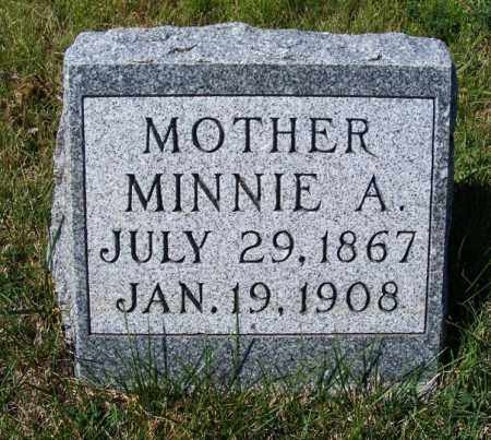 BAER, MINNIE A. - Frontier County, Nebraska | MINNIE A. BAER - Nebraska Gravestone Photos