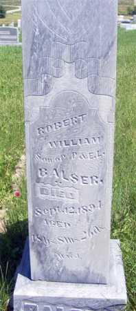 BALSER, ROBERT WILLIAM - Frontier County, Nebraska | ROBERT WILLIAM BALSER - Nebraska Gravestone Photos