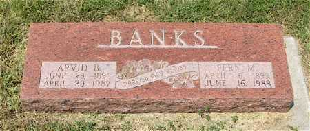 BANKS, ARVID B. - Frontier County, Nebraska | ARVID B. BANKS - Nebraska Gravestone Photos