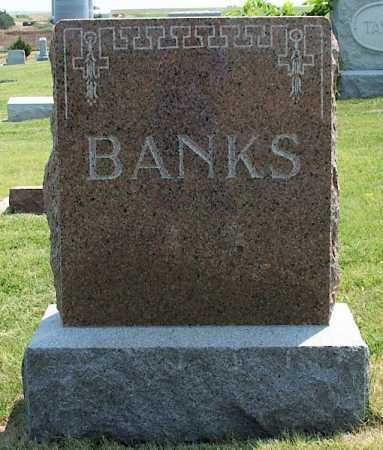 BANKS, FAMILY - Frontier County, Nebraska   FAMILY BANKS - Nebraska Gravestone Photos