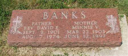 BANKS, MINNIE V. - Frontier County, Nebraska | MINNIE V. BANKS - Nebraska Gravestone Photos