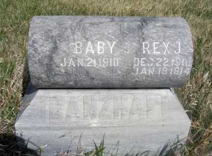 BANZHAF, BABY - Frontier County, Nebraska | BABY BANZHAF - Nebraska Gravestone Photos