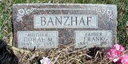 BANZHAF, CORAL M. - Frontier County, Nebraska | CORAL M. BANZHAF - Nebraska Gravestone Photos