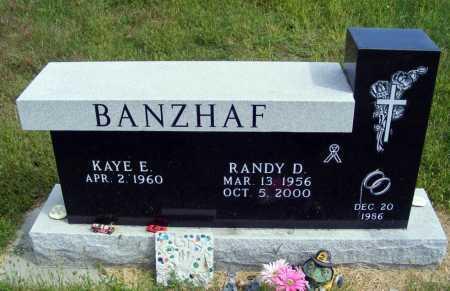 BANZHAF, RANDY D. - Frontier County, Nebraska   RANDY D. BANZHAF - Nebraska Gravestone Photos
