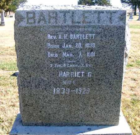BARTLETT, REV. A.H. - Frontier County, Nebraska | REV. A.H. BARTLETT - Nebraska Gravestone Photos