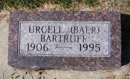 BARTRUFF, URCELL - Frontier County, Nebraska | URCELL BARTRUFF - Nebraska Gravestone Photos