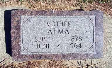 BASH, ALMA - Frontier County, Nebraska | ALMA BASH - Nebraska Gravestone Photos