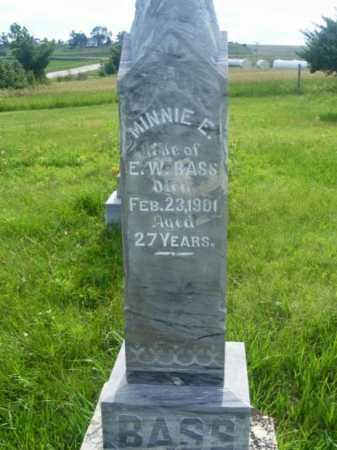 BASS, MINNIE E. - Frontier County, Nebraska | MINNIE E. BASS - Nebraska Gravestone Photos