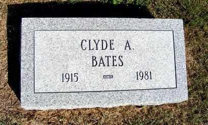 BATES, CLYDE A. - Frontier County, Nebraska   CLYDE A. BATES - Nebraska Gravestone Photos