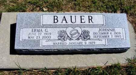 BAUER, JOHNNIE - Frontier County, Nebraska | JOHNNIE BAUER - Nebraska Gravestone Photos