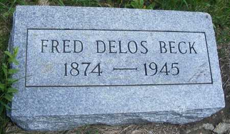 BECK, FRED DELOS - Frontier County, Nebraska | FRED DELOS BECK - Nebraska Gravestone Photos