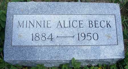 MURKLE BECK, MINNIE ALICE - Frontier County, Nebraska   MINNIE ALICE MURKLE BECK - Nebraska Gravestone Photos