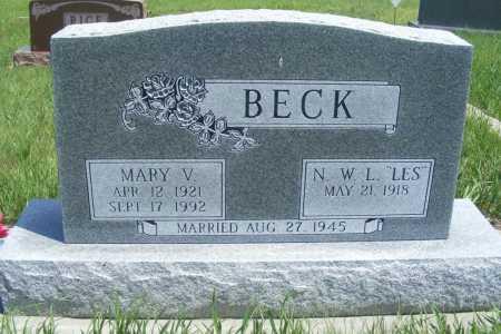 MCMICHAEL BECK, MARY V. - Frontier County, Nebraska | MARY V. MCMICHAEL BECK - Nebraska Gravestone Photos