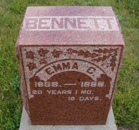 BENNETT, EMMA C. - Frontier County, Nebraska   EMMA C. BENNETT - Nebraska Gravestone Photos