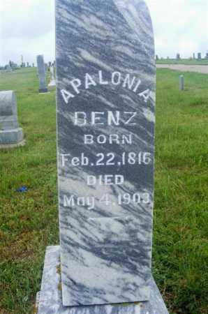 BENZ, APALONIA - Frontier County, Nebraska   APALONIA BENZ - Nebraska Gravestone Photos