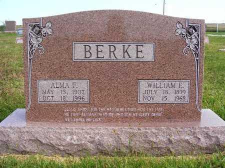 BERKE, ALMA F. - Frontier County, Nebraska | ALMA F. BERKE - Nebraska Gravestone Photos