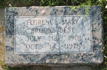 BROOKS BEST, FLORENCE MARY - Frontier County, Nebraska | FLORENCE MARY BROOKS BEST - Nebraska Gravestone Photos