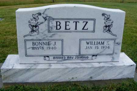 BETZ, WILLIAM K. - Frontier County, Nebraska   WILLIAM K. BETZ - Nebraska Gravestone Photos