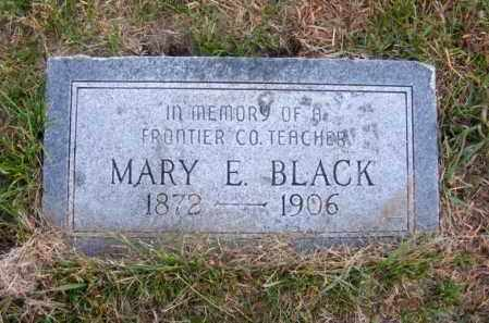 BLACK, MARY E. - Frontier County, Nebraska | MARY E. BLACK - Nebraska Gravestone Photos