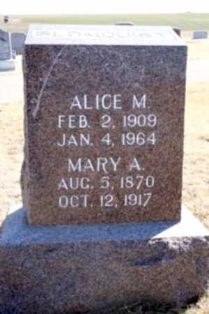 BLOMQUIST, MARY A. - Frontier County, Nebraska | MARY A. BLOMQUIST - Nebraska Gravestone Photos