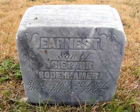 BODENHAMER, EARNEST - Frontier County, Nebraska | EARNEST BODENHAMER - Nebraska Gravestone Photos