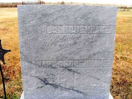 BODENHAMER, MARY G. - Frontier County, Nebraska | MARY G. BODENHAMER - Nebraska Gravestone Photos