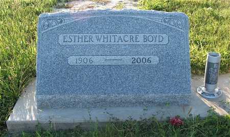 BOYD, ESTHER WHITACRE - Frontier County, Nebraska | ESTHER WHITACRE BOYD - Nebraska Gravestone Photos