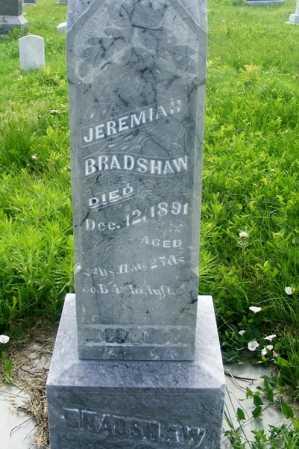 BRADSHAW, JEREMIAH - Frontier County, Nebraska   JEREMIAH BRADSHAW - Nebraska Gravestone Photos