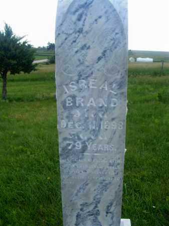 BRAND, ISREAL - Frontier County, Nebraska | ISREAL BRAND - Nebraska Gravestone Photos