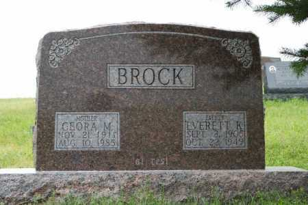 BROCK, CEORA M. - Frontier County, Nebraska | CEORA M. BROCK - Nebraska Gravestone Photos
