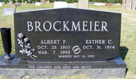 BROCKMEIER, ALBERT F. - Frontier County, Nebraska | ALBERT F. BROCKMEIER - Nebraska Gravestone Photos