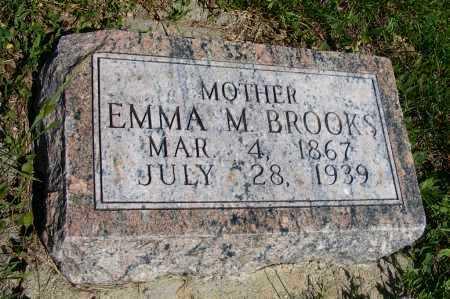 BROOKS, EMMA M. - Frontier County, Nebraska | EMMA M. BROOKS - Nebraska Gravestone Photos