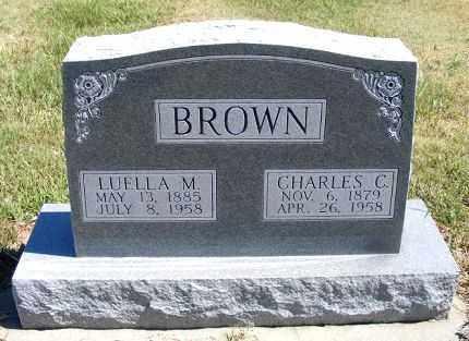 BROWN, LUELLA M. - Frontier County, Nebraska | LUELLA M. BROWN - Nebraska Gravestone Photos