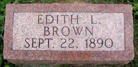 BROWN, EDITH L. - Frontier County, Nebraska | EDITH L. BROWN - Nebraska Gravestone Photos