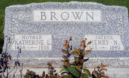 BROWN, KATHERINE L. - Frontier County, Nebraska | KATHERINE L. BROWN - Nebraska Gravestone Photos