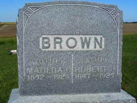 BROWN, MATILDA C. - Frontier County, Nebraska | MATILDA C. BROWN - Nebraska Gravestone Photos