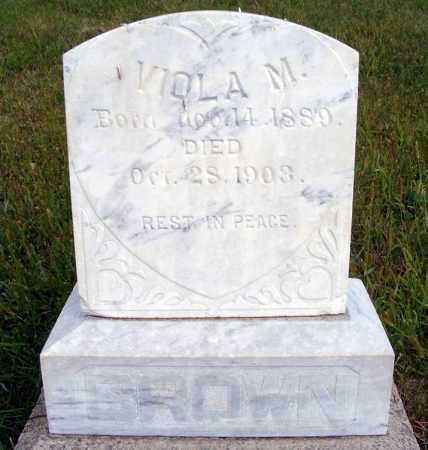 BROWN, VIOLA M. - Frontier County, Nebraska | VIOLA M. BROWN - Nebraska Gravestone Photos