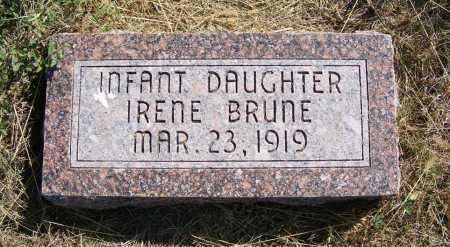 BRUNE, IRENE - Frontier County, Nebraska | IRENE BRUNE - Nebraska Gravestone Photos