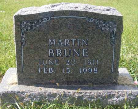 BRUNE, MARTIN - Frontier County, Nebraska | MARTIN BRUNE - Nebraska Gravestone Photos