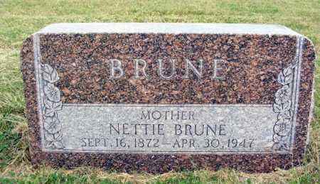 BRUNE, NETTIE - Frontier County, Nebraska | NETTIE BRUNE - Nebraska Gravestone Photos