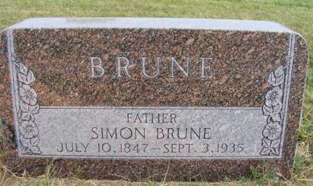 BRUNE, SIMON - Frontier County, Nebraska | SIMON BRUNE - Nebraska Gravestone Photos