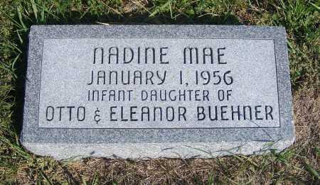 BUEHNER, NADINE MAE - Frontier County, Nebraska | NADINE MAE BUEHNER - Nebraska Gravestone Photos