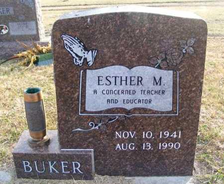 BUKER, ESTHER M. - Frontier County, Nebraska   ESTHER M. BUKER - Nebraska Gravestone Photos