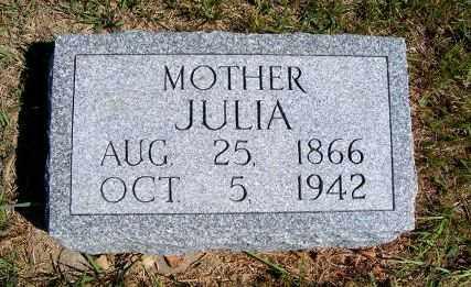 BURKE, JULIA - Frontier County, Nebraska | JULIA BURKE - Nebraska Gravestone Photos