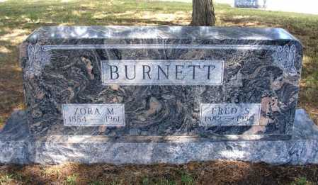 BURNETT, FRED S. - Frontier County, Nebraska | FRED S. BURNETT - Nebraska Gravestone Photos