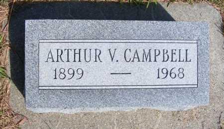 CAMPBELL, ARTHUR V. - Frontier County, Nebraska | ARTHUR V. CAMPBELL - Nebraska Gravestone Photos