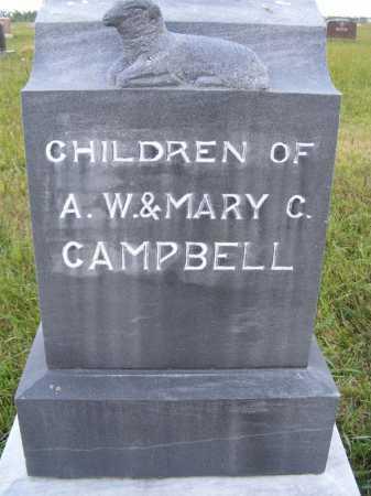 CAMPBELL, CHILDREN - Frontier County, Nebraska | CHILDREN CAMPBELL - Nebraska Gravestone Photos