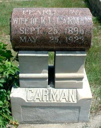 CARMAN, PEARL W. - Frontier County, Nebraska | PEARL W. CARMAN - Nebraska Gravestone Photos