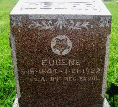 CEDER, EUGENE - Frontier County, Nebraska | EUGENE CEDER - Nebraska Gravestone Photos