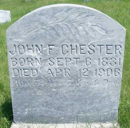 CHESTER, JOHN F. - Frontier County, Nebraska   JOHN F. CHESTER - Nebraska Gravestone Photos